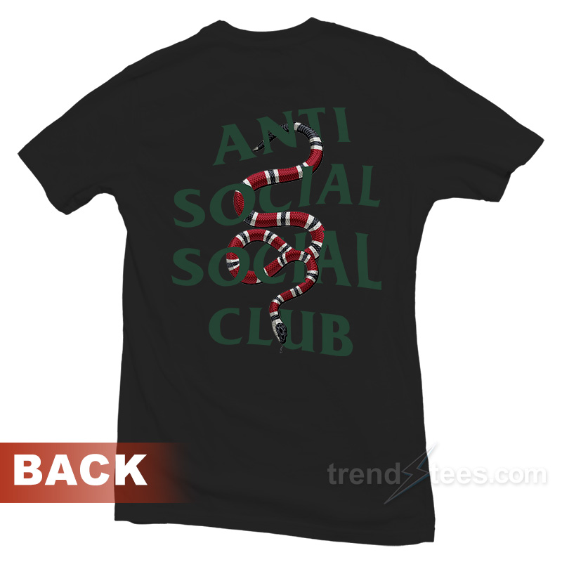8438d845676 Anti Social Social Club ASSC Parody Gucci Snake T-shirt - Trendstees