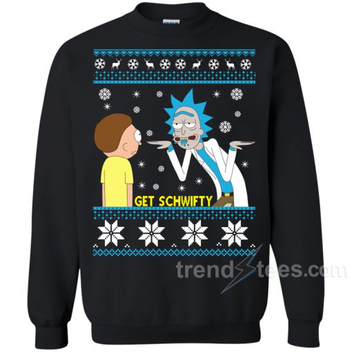 Crewneck Rick And Morty Get Schwifty Christmas Sweater