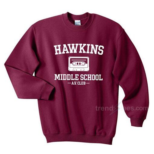 Hawkins Middle School AV Club Sweatshirt