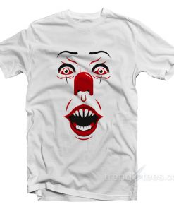 IT Stephen King Face Halloween T-Shirt on Sale - TrendsTees.com