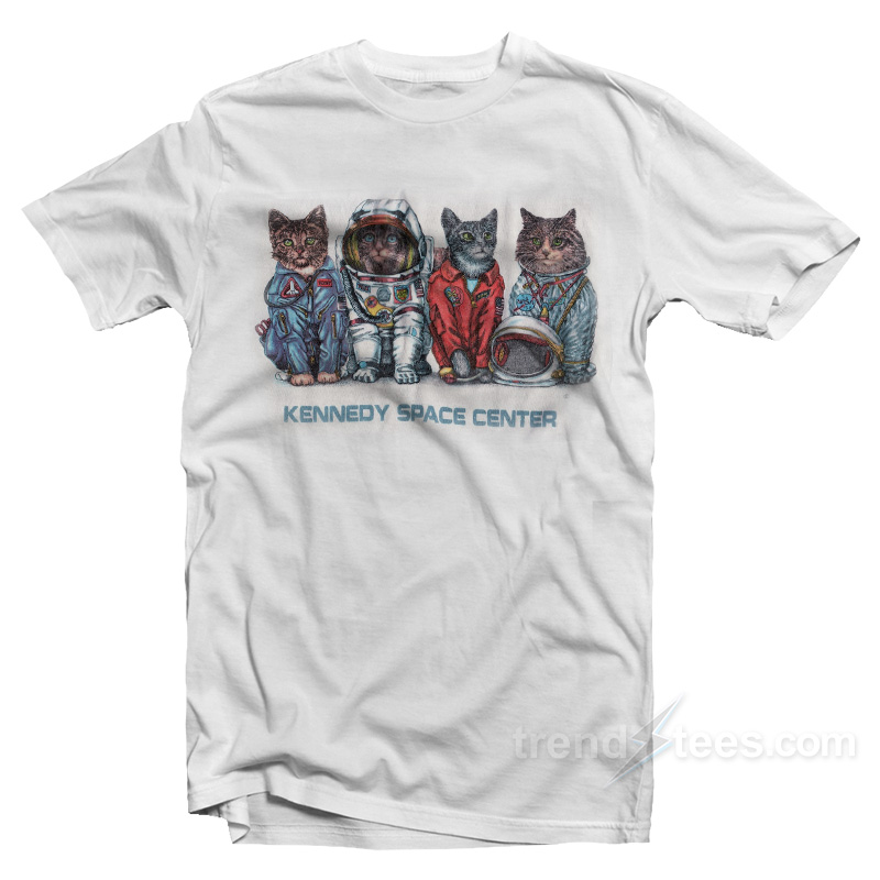06c94c1b Cat Kennedy Space Centre T-shirt Cheap Custom - TrendsTees.com