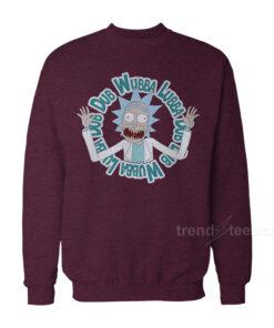 Rick And Morty Christmas Sweater - Wubba Lubba Dub Dub Sweatshirt