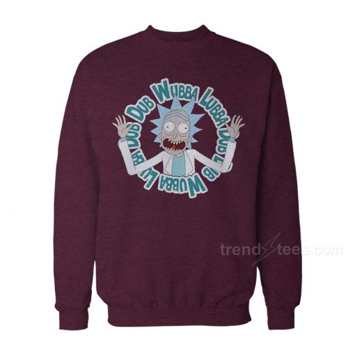 Rick And Morty Christmas Sweater - Wubba Lubba Dub Dub Sweatshirt