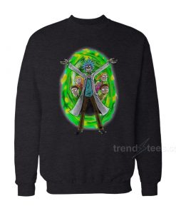 Rick And Morty Christmas Sweater Angry Family Sweatshirt on Sale