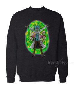 Rick And Morty Christmas Sweater Angry Family Sweatshirt on Sale