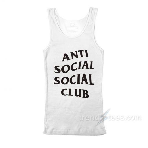 Anti Social Social Club Font Tank Top