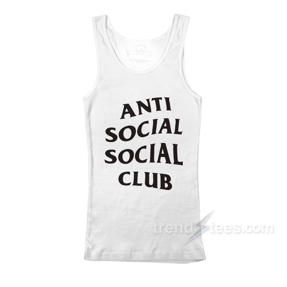 a31d5689 Anti Social Social Club Font Tank Top Women's or Men's - Trendstees