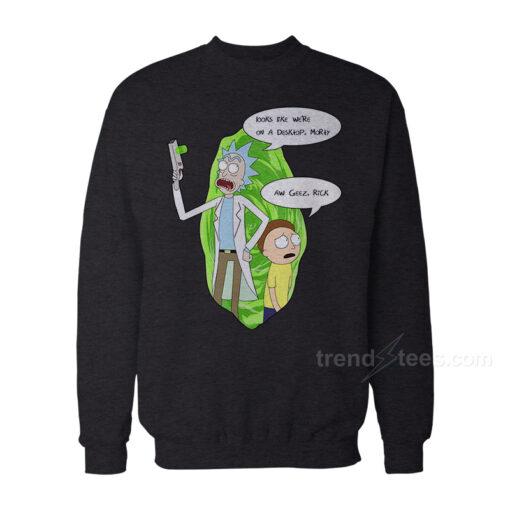Rick And Morty Merchandise Aw Geez Rick Sweatshirt