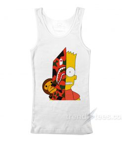Bart Simpson Shark Bape Tank Top