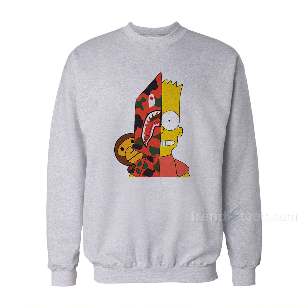 Bart Simpson Shark Bape Sweatshirt