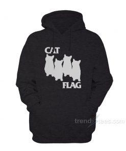 cat black flag black 247x296 - Cat Black Flag Parody Hoodies Women's or Men's