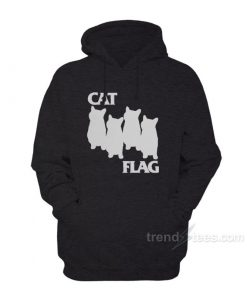 cat black flag black scaled 247x296 - Cat Black Flag Parody Hoodies Women's or Men's