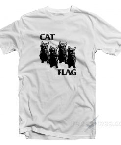Cat Flag Parody Black Flag Cheap Custom T-shirt