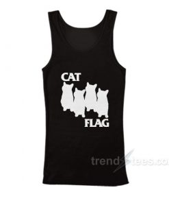 Black Cat Black Flag Parody Tank Top