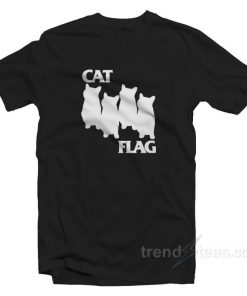 Cat Flag Parody Black Flack Cheap Custom T-shirt