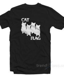 Cat Flag Parody Black Flack Cheap Custom T-shirt