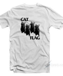 Cat Flag Parody Black Flag Cheap Custom T-shirt