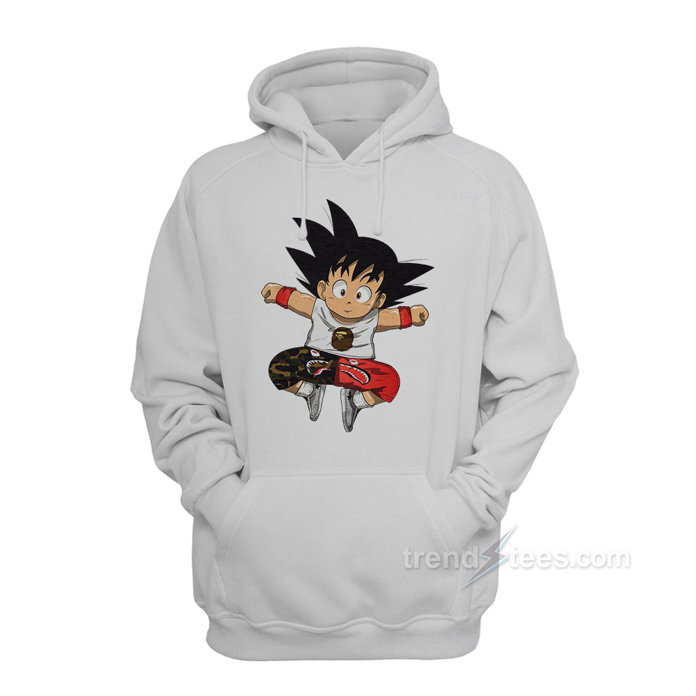 Goku Bathing Ape Hoodie For Women's Or Men's