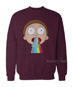 nirty rainbow 247x296 - Rick And Morty Merchandise Rainbow Sweatshirt Women's or Men's