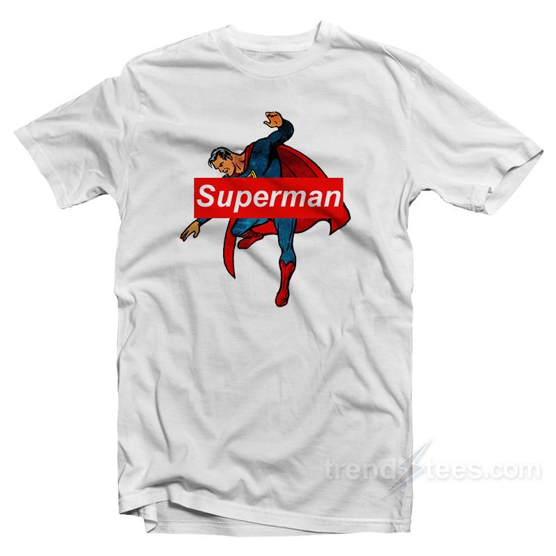 Very best Superman Supreme Logo Parody T-shirt Cheap Custom - trendstees.com QV49
