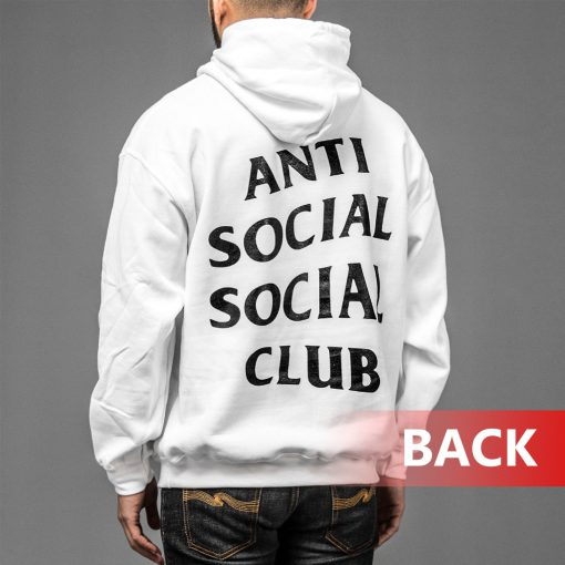 White Anti Social Club Kanye West Black Hoodies