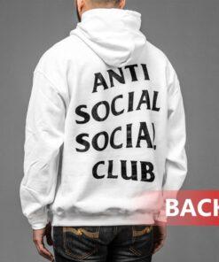 White Anti Social Club Kanye West Black Hoodies