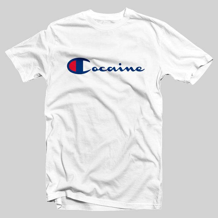 champion t shirt  Champion Cocaine T-Shirt Adult Unisex on sale -