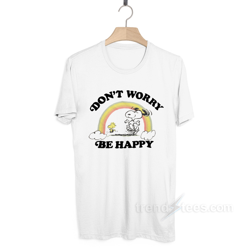 Junk Food Snoopy Dont Worry Be Happy T Shirt Trendsteescom