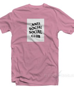 Anti Social Social Club Box Logo White T-shirt