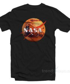 Nasa Shirt Logo Mars Cheap Custom T-Shirt