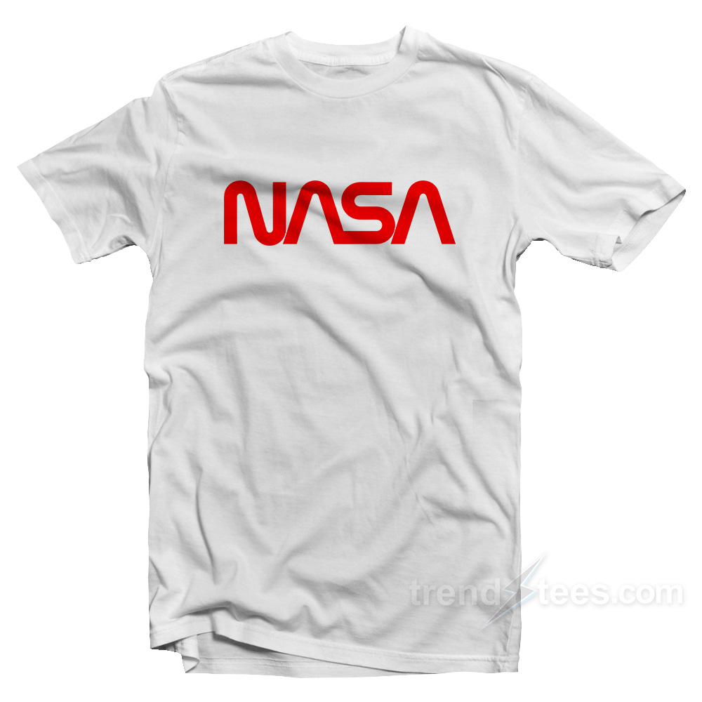 Nasa shirt logo cheap custom t shirt for Personalised t shirts cheap