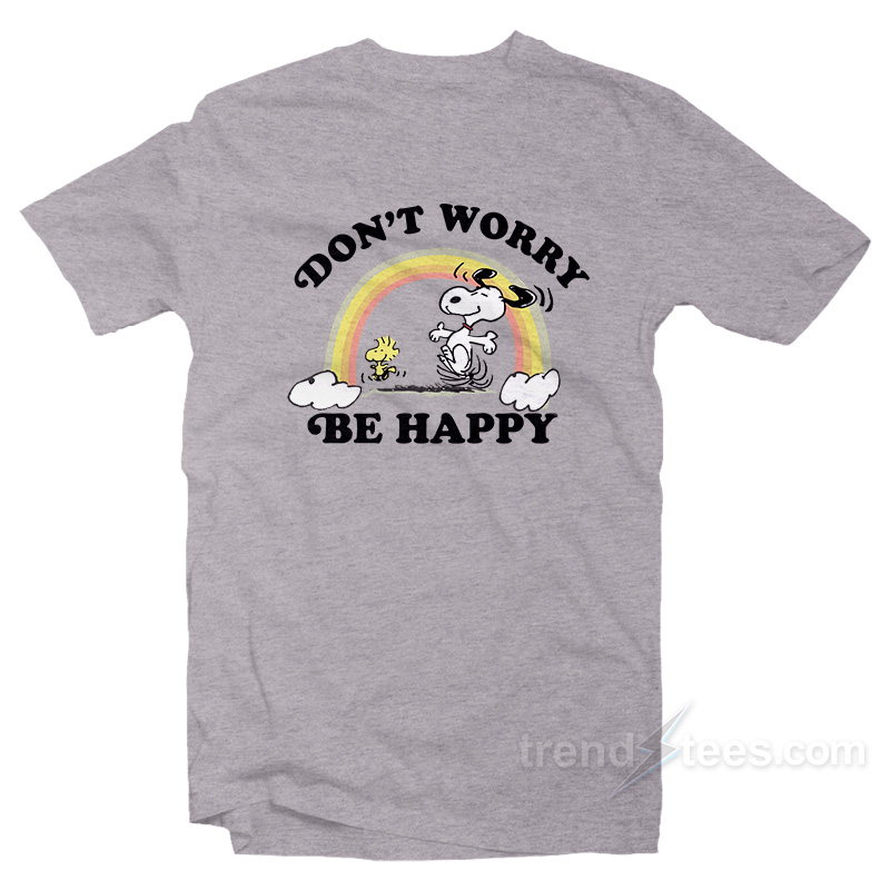 Snoopy Dont Worry Be Happy Womens Hooded Sweatshirt