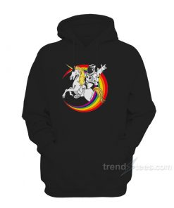 Rainbow Unicorn Hoodie With Horn