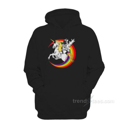 Rainbow Unicorn Hoodie With Horn