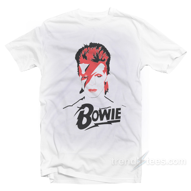 David Bowie Graphic T-shirt Cheap Trendy Clothing - Trendstees.com