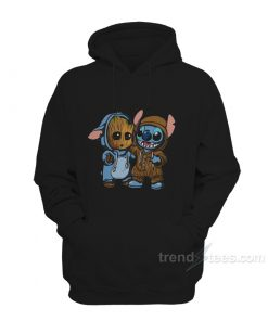 Stitch And Groot Hoodie For Women's or Men's