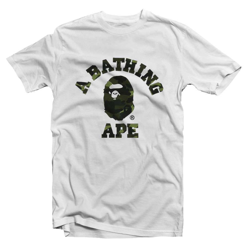 a bathing ape camo shirt