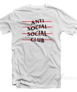 ASSC Anti Social Social Club Line T-shirt Cheap Trendy Clothes