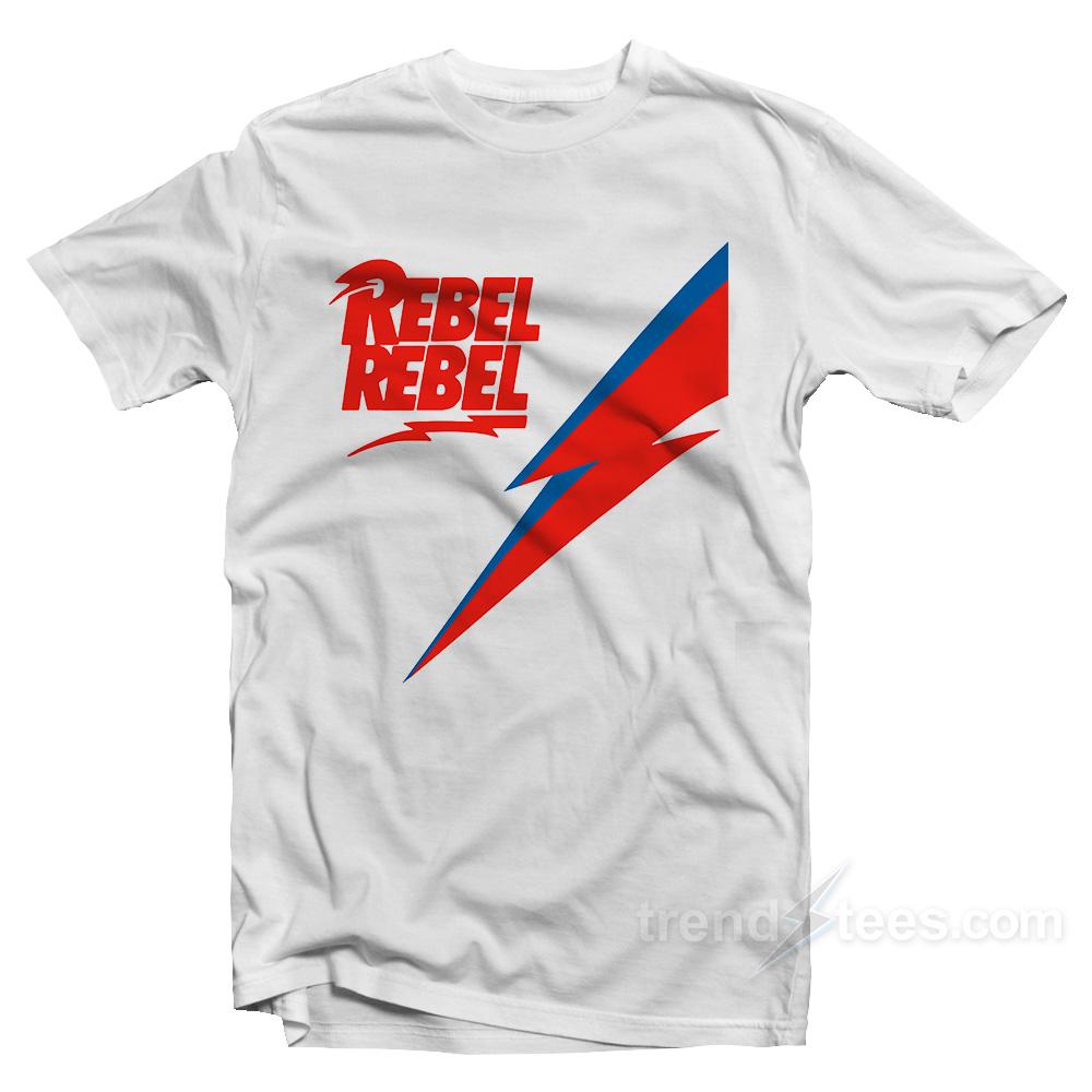 f3428924ff45cc Rebel Rebel David Bowie T-shirt Cheap Custom - TrendsTees.com