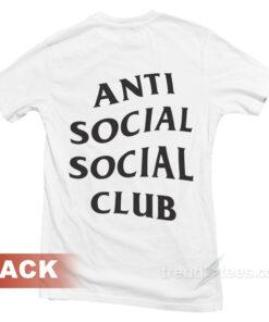 ASSC Anti Social Social Club T-shirt Front and Back