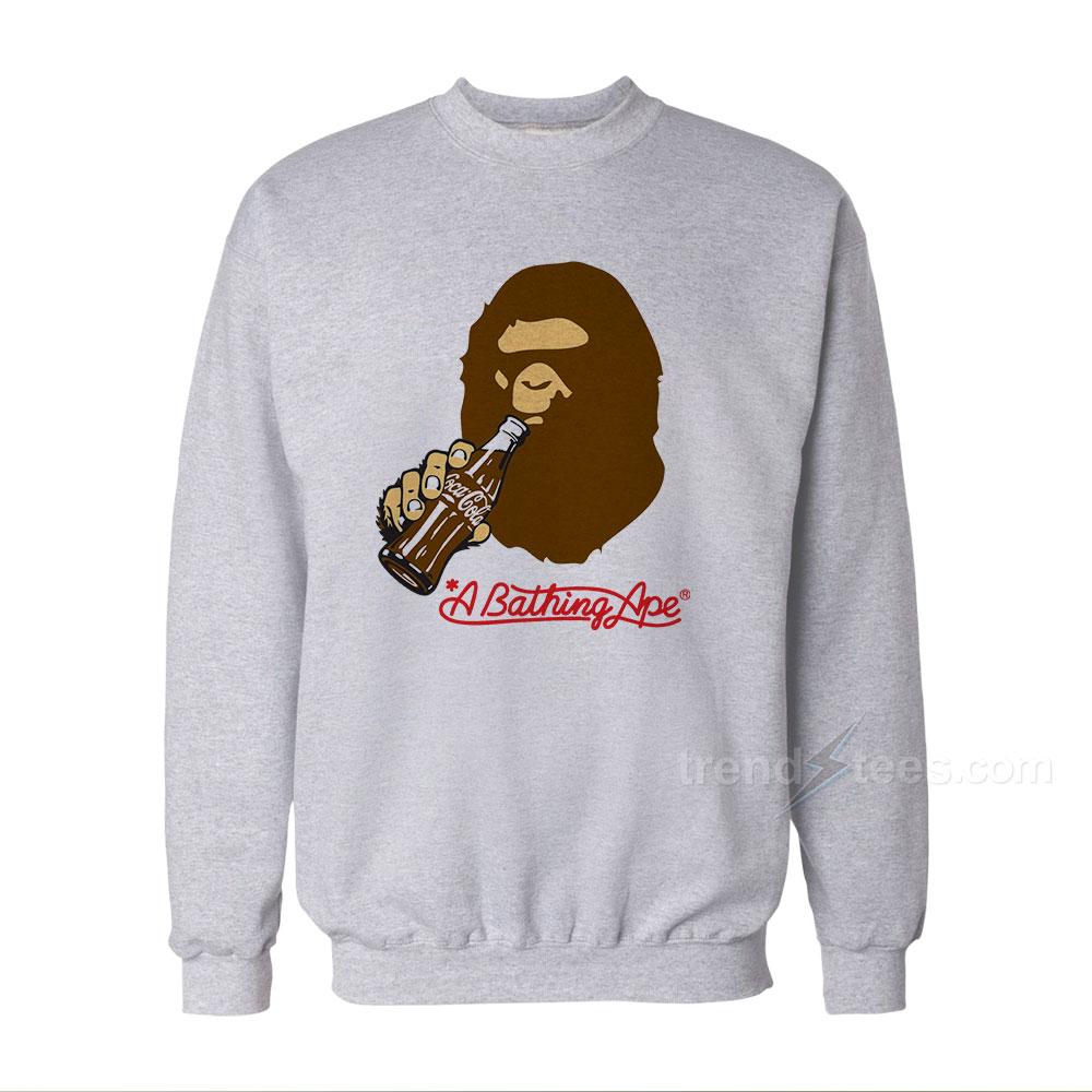 3d444c6cb A Bathing Ape Coca-Cola Bape Sweatshirts For Women's or Men's