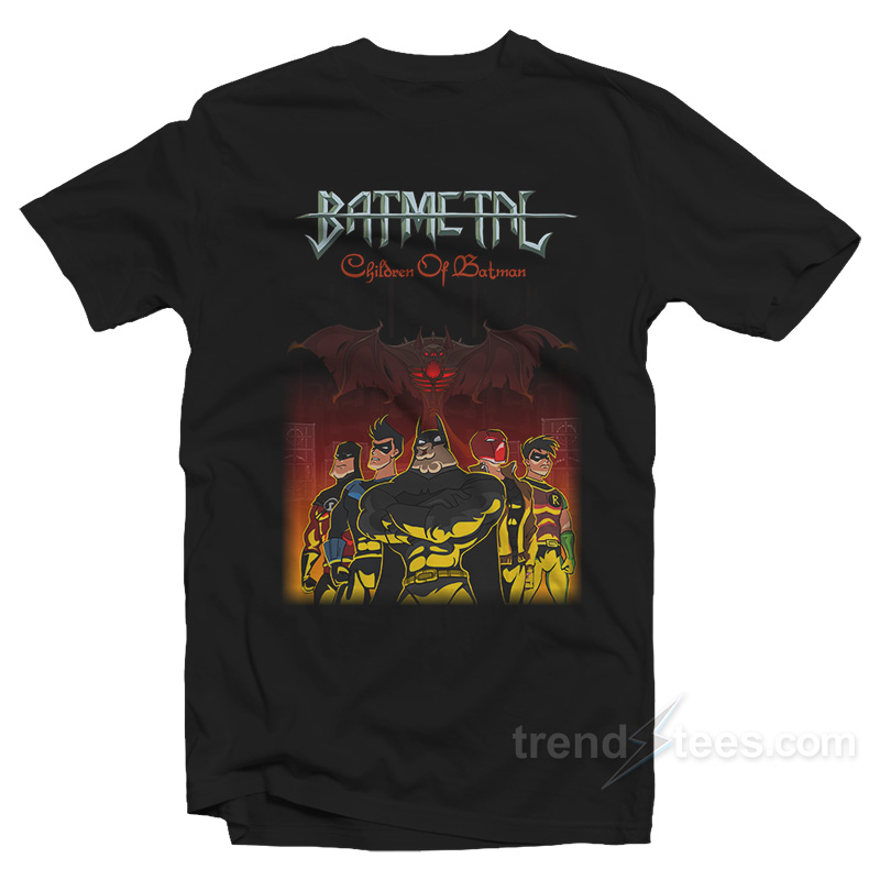 Children of batmetal t shirt cheap custom for Personalized t shirts for kids cheap