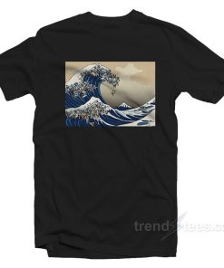 The Great Wave of Pug T-shirt Cheap Custom