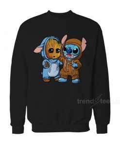 Stitch And Baby Groot Sweatshirt