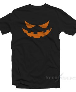 Jack O Lantern Face Halloween T-Shirt Adult