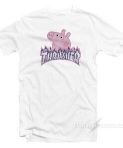 Peppa Pig Thrasher Flame Parody T-Shirt