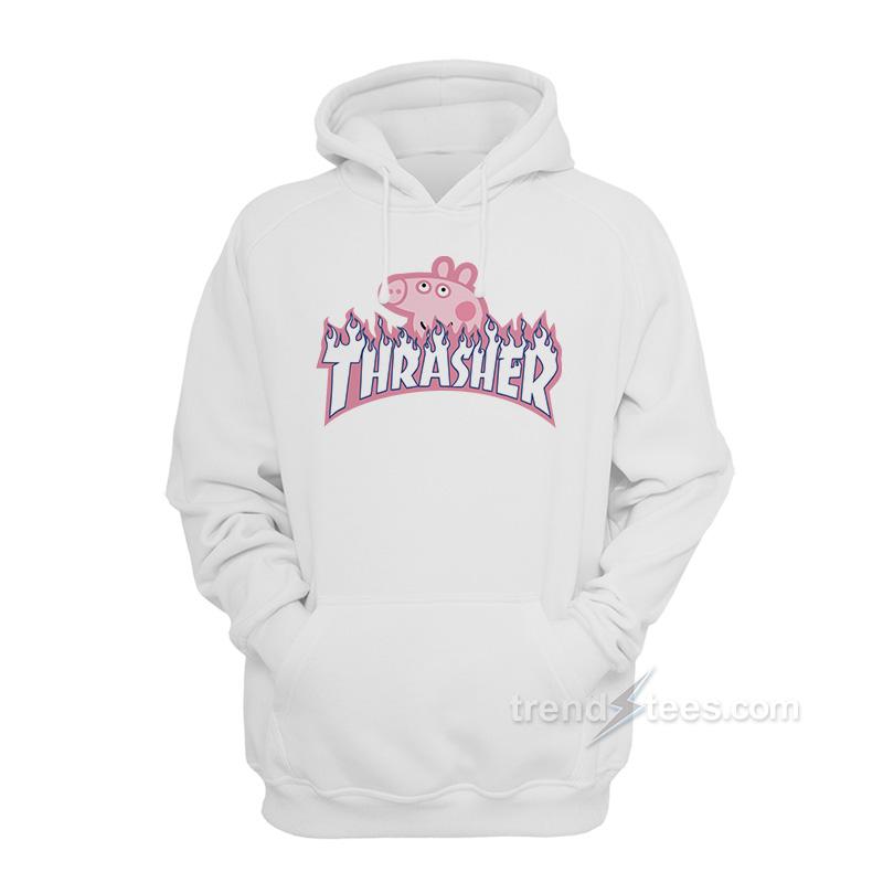 103eb7e7b43f Peppa Pig X Thrasher Parody Hoodie Unisex Streetwear - Trendstees.com