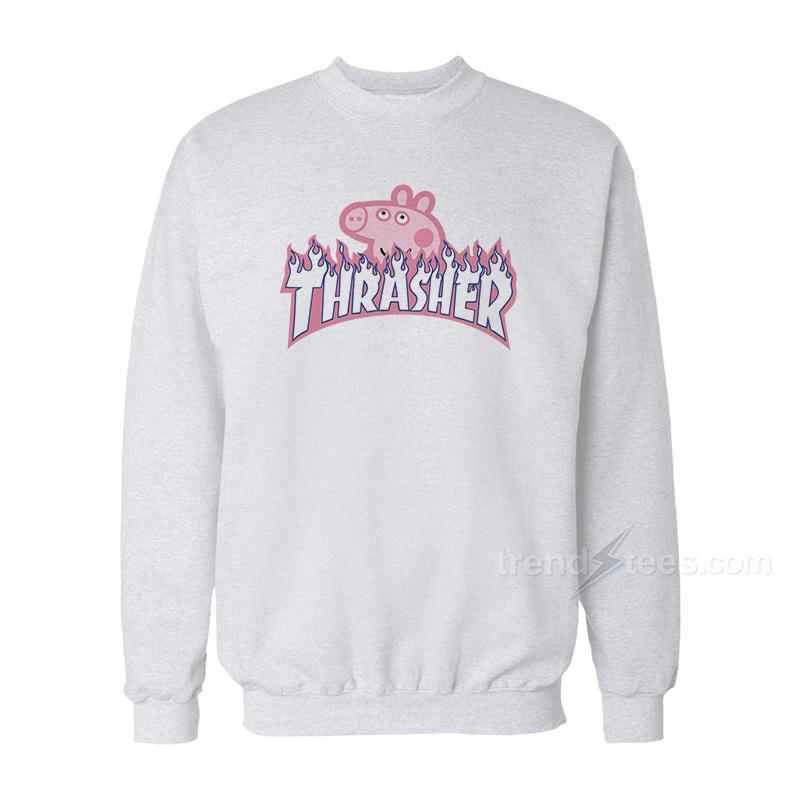 cdf47dafd0cd Peppa Pig x Thrasher Parody Sweatshirt · Home / CLOTHING / SWEATSHIRTS
