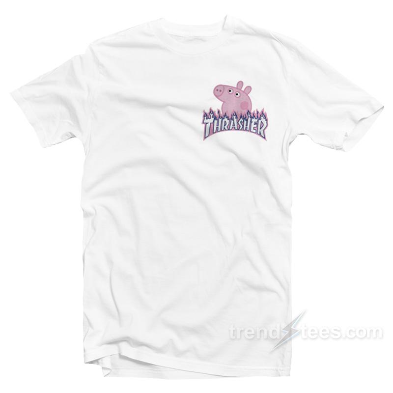 955a6b34cdf2 Thrasher X Peppa Pig Parody T-Shirt For Women's or Men's