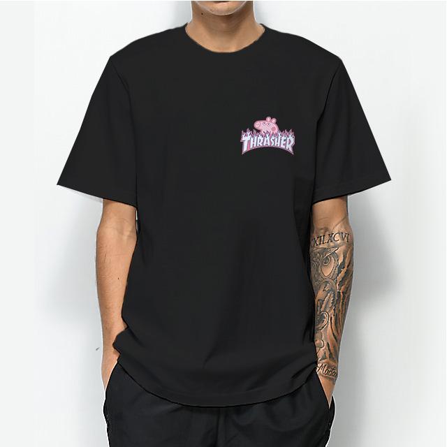 a562d3aa405d Thrasher x Peppa Pig Head Pocket Parody T-Shirt For Women s or Men s